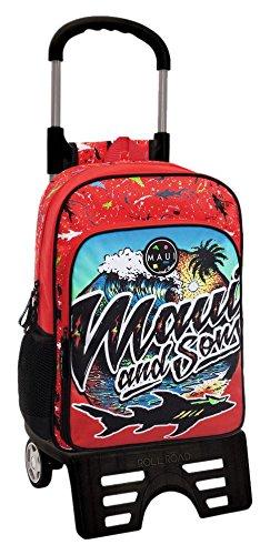 51Or1eSbHML - Maui Beach Mochila Escolar, 15.6 litros, Color Rojo