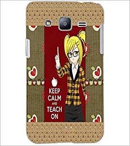 PrintDhaba Girl with Quote D-3021 Back Case Cover for SAMSUNG GALAXY J2 (Multi-Coloured)