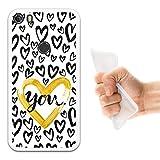 WoowCase Alcatel Idol 5 Hülle, Handyhülle Silikon für [ Alcatel Idol 5 ] Farbiges Herz Handytasche Handy Cover Case Schutzhülle Flexible TPU - Transparent