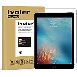 iPad 9.7 2017 / iPad Pro 9.7 / iPad Air / iPad Air 2 Protector de Pantalla, iVoler Protector de Pantalla de Vidrio Templado Cristal Protector para Apple iPad 9.7 2017 / iPad Pro 9.7 / iPad Air / iPad Air 2 (iPad 5 & 6) 9.7'' -Dureza de Grado 9H, Espesor 0,30 mm, 2.5D Round Edge-[Ultra-trasparente] [Anti-golpe] [Ajuste Perfecto] [No hay Burbujas]- Garantía Incondicional de 18 Meses