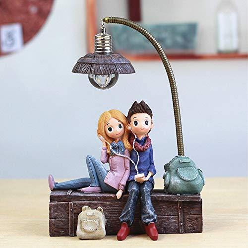 chtlicht Fantes Cartoon Sweetheart Dekorative Handwerk Ornamente Schlafzimmer Nachttisch LED Lampe Geburtstag Geschenk Home Decor, Music Lovers ()