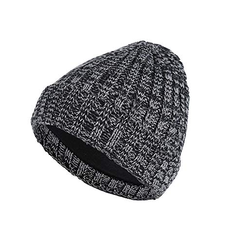 BURFLY Herren Damen Winter Baggy Warm Crochet Wool Gestrickte Unisex Baseball Ski Slouchy Caps Hut ()