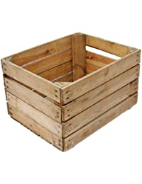 Obstkistenregal 6 macizo + Natural Caja madera Cajas de vino Cajas de manzana Cajas de fruta