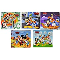 Myesha Toys Mickey Mouse & Friends Zigsaw puzzle, Pack of 5, Total 45 Pieces