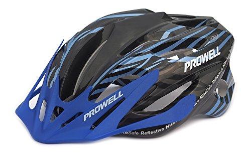 Prowell F59R Vipor F59R - Casco de ciclismo negro y azul Talla:M (55-61 cm)