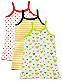 #7: Myfaa Baby Girl's Cotton Vest (V3P-1024-2-3yrs, Multi-Coloured)
