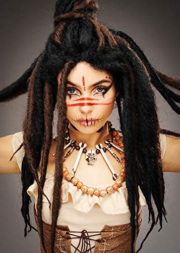 Magic Box Int. Womens Voodoo Witch Doctor Dreadlock Brötchen Perücke