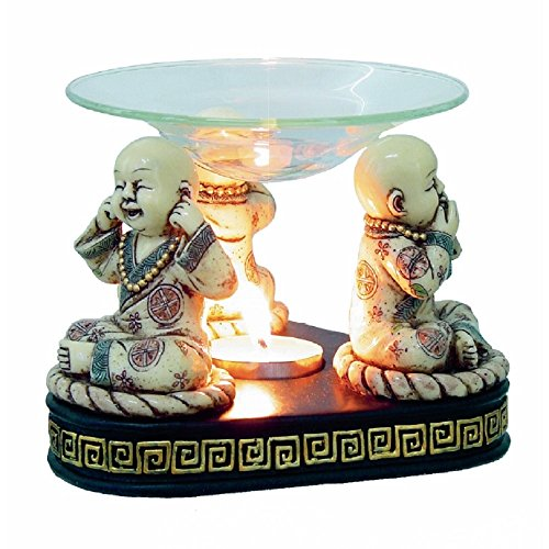 Duftlampe Aromalampe 3 Mönche Buddhismus Buddha Feng Shui Esoterik Raumduft Dekoration