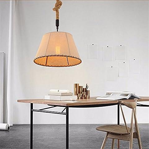 Matcose American-Style estilo retro de la industria rural de cabezal único candelabro de lino de hierro adecuado para cafe, pasillo, Hoteles, pasillos, bares, pubs, restaurantes, Restaurantes, pasillos, Entretenimiento