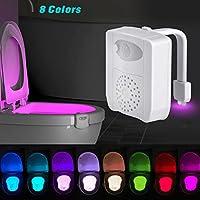UV sterilizatör WC gece lambası, hareket etkinleştirmek için LED WC oturak ışık 16renk değiştiren kase ışık, aroma terapisi için her Toilette–beyaz, 8 Farben
