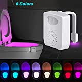 UV Sterilisator WC Nachtlicht, Bewegung aktiviert LED WC Sitz Licht 16 Farbwechsel Schüssel Licht mit Aromatherapie für jede Toilette - Weiß (8 Farben)