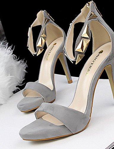 WSS 2016 Chaussures Femme-Décontracté-Noir / Rose / Rouge / Argent / Gris / Or-Talon Aiguille-Talons-Chaussures à Talons-Polyuréthane gray-us5 / eu35 / uk3 / cn34