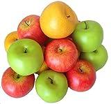 Deko Äpfel 15 Stück bunt Kunstobst Kunstgemüse künstliches Obst Gemüse