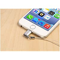 Remax Micro USB vers Apple Lightning Adaptateur pour iPhone 8 8 Plus,X, 7 7s Plus 6s, 6, 6+ Plus 5, 5s, 5c (MicroUSB to 8-pin Lightning Converter) (Argent)- 1PC