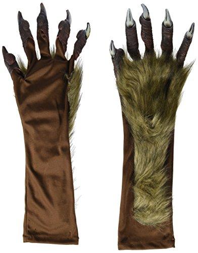 Heitmann Deco Halloween - Werwolf-Handschuhe mit Fell - für Erwachsene - Ideal für Halloween und Karnevals-Kostüm