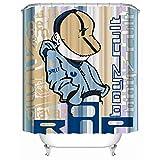 Xijia Shower Curtain Duschvorhang, Graffiti kühler Mann in der Kappe Hip Hop-Gesicht Moderne Hipster-Kunst-Drucke, Weiches Polyester | Wasserdichtes Gewebe Bad Vorhang Design 60