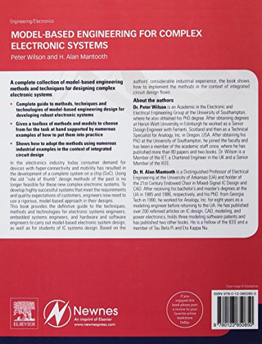 Model-Based Engineering for Complex Electronic Systems