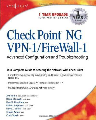 CheckPoint NG VPN 1/Firewall 1: Advanced Configuration and Troubleshooting by Syngress (11-May-2003) Paperback