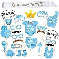 iLoveCos MUMMY TO BE Echarpe Satin Sash et Décorations de fête 25 Pièce Photo Booth Props pour Célébration Baptême Baby Shower Cadeaux