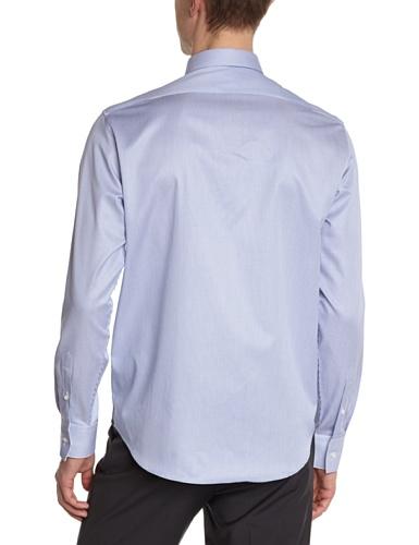 Atelier Privé Herren Businesshemd Rayures base twill Blau