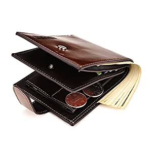 Pu Leather Wallets For Men Bifold Card Slots Small Slim Pocket Vintage Travel Button Wallet