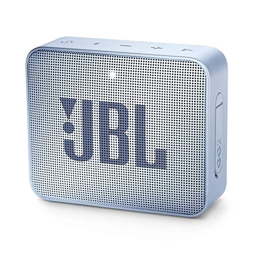 JBL GO 2 kleine Musikbox - Wasserfester, portabler Bluetooth-Lautsprecher mit Freisprechfunktion - Bis zu 5 Stunden Musikgenuss mit nur einer Akku-Ladung Hellblau