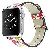 Hkfv Superb Young causale Fashion Style design classico Young orologio da polso bracciale cinturino in pelle per Apple Watch 38mm 42mm 1/2/3, 42MM Red
