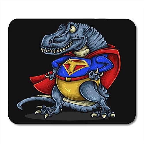 Einfach Kostüm Team - Luancrop Mauspads Alt von Dinosaur Rex Character Design mit Kostüm und starkem Muskel bereit, Maskottchen-Sport-Team-verärgerte Mausunterlage für Notizbücher, Tischrechnermatten Bürozubehöre