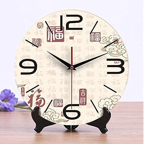 Moderno ed elegante colorata/ceramica orologio orologio creative soggiorno parete orologio orologio dual-utilizzare mute grande benedizione digitale mappa Home/cucina/soggiorno Orologio da parete