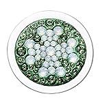 PAVO REAL Clásico Diam Relleno CLOVERLEAF - green, crystal