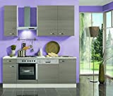 idealShopping Küchenblock mit Elektrogeräten Vigo in Pinie Nachbildung 210 cm breit