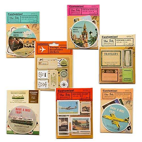 Laptop Travel Fällen (90PCS IN EINEM SET Vintage DIY Deko Aufkleber Hintergrund Aufkleber für Reisen Fall, Notebook, Laptop, Moto und mehr.)