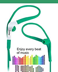 Sports Fitness / GYMING / Workout In-Earbuds Earphones Headset Compatible For Sony Xperia E5 Dual -Green