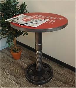 LOFT table d'appoint avec inscriptions en métal-effet délavé -