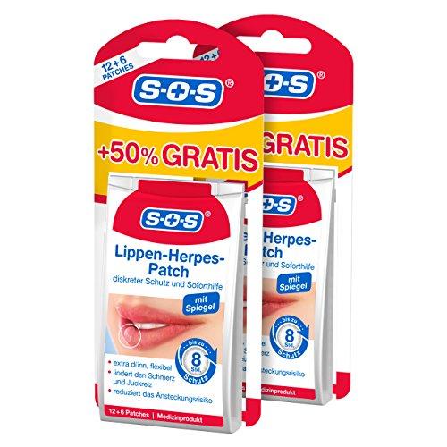 SOS Lippenherpes-Patch | Medizinprodukt | diskreter Schutz und Soforthilfe bei Lippenherpes | jetzt 50% mehr Inhalt (2)