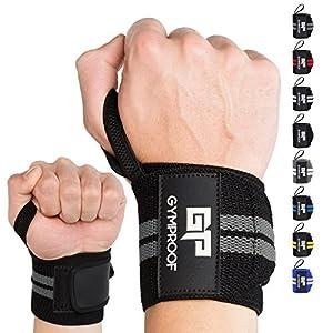 GYMPROOF – Premium-Handgelenkbandagen im 2er Set – Wrist Wraps – für optimalen Trainingserfolg im Fitness, Bodybuilding, CrossFit, Kraftsport und Powerlifting [geeignet für Frauen & Männer]
