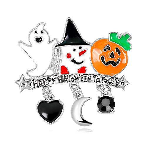 TtKj Brosche Halloween-Serie pin Ghost lustige Kürbis Kopf Kostüm Ornament 2 Stück Set
