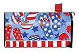 Best Briarwood Lane Garden Decors - Summer Fun Patriotic Magnetic Mailbox Cover Flip Flops Review