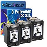PlatinumSerie® 3x Druckerpatrone für HP 336 XL Black Photosmart 2500 C3180 C3185 C3190 C3194