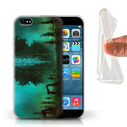 Offiziell Chris Cold Hülle / Gel TPU Case für Apple iPhone 6 / Pack 12pcs Muster / Fremden Welt Kosmos Kollektion Alien Landschaft