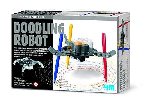 JJ's Gift Shop ideal für Kinder über dem Jahre 8+ 4M Kunst kritzeln Muster Roboter