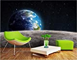 XZCWWH Foto Personalizzata 3D Room Wallpaper Mural Universo Pianeta Terra Pittura 3D Murales Carta Da Parati,300cm(W)×210cm(H)