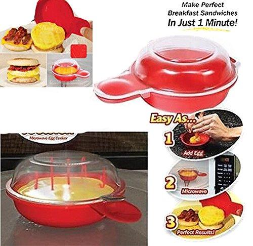 HENGSONG Mikrowelle Eierkocher BPA sicher Speck-Ei Käse Hersteller (Speck-käse-kekse)