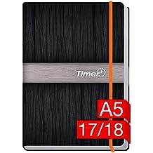 Chäff-Timer Premium A5 Kalender 2017/2018 [Neon orange] 18 Monate Juli 2017-Dezember 2018 - neon Gummiband, Einstecktasche - Terminkalender mit Wochenplaner - Organizer - Wochenkalender
