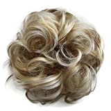 PRETTYSHOP Haarteil Haargummi Hochsteckfrisuren unordentlicher Dutt gewellt VOLUMINÖS hellblond mix 25H613 G37A