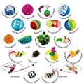 Clever Claws Cat Toy Variety Pack, 20 Pieces Including Mice, Balls, Bells, Feathers and Wands