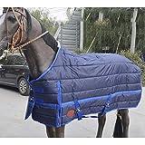 Coperta di Cavallo Coperta Protettiva per Cavalli, Gilet in Cotone di Stagione Gilet Trapuntato Caldo Inverno Caldo Cavallo Trapuntato,145cm