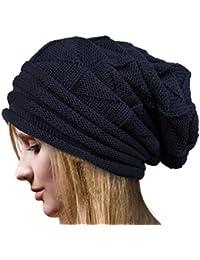 Chapeau,Malloom Crochet D'hiver Laine Bonnet Le Bonnet Des Femmes Bouchons Chauds