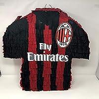 Pignatta Maglia AC Milan (pentolaccia, piñata) gioco divertente per le feste di compleanno per piccoli tifosi a forma di maglia sagomata, fatta a mano, personalizzabile.
