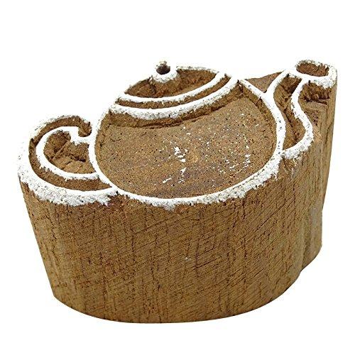 Holz-Block-Kunst Braune Handgemachte Dekorative Blöcke Kessel Stempel Für Ton (Muster Drucken Kunst Block Der)